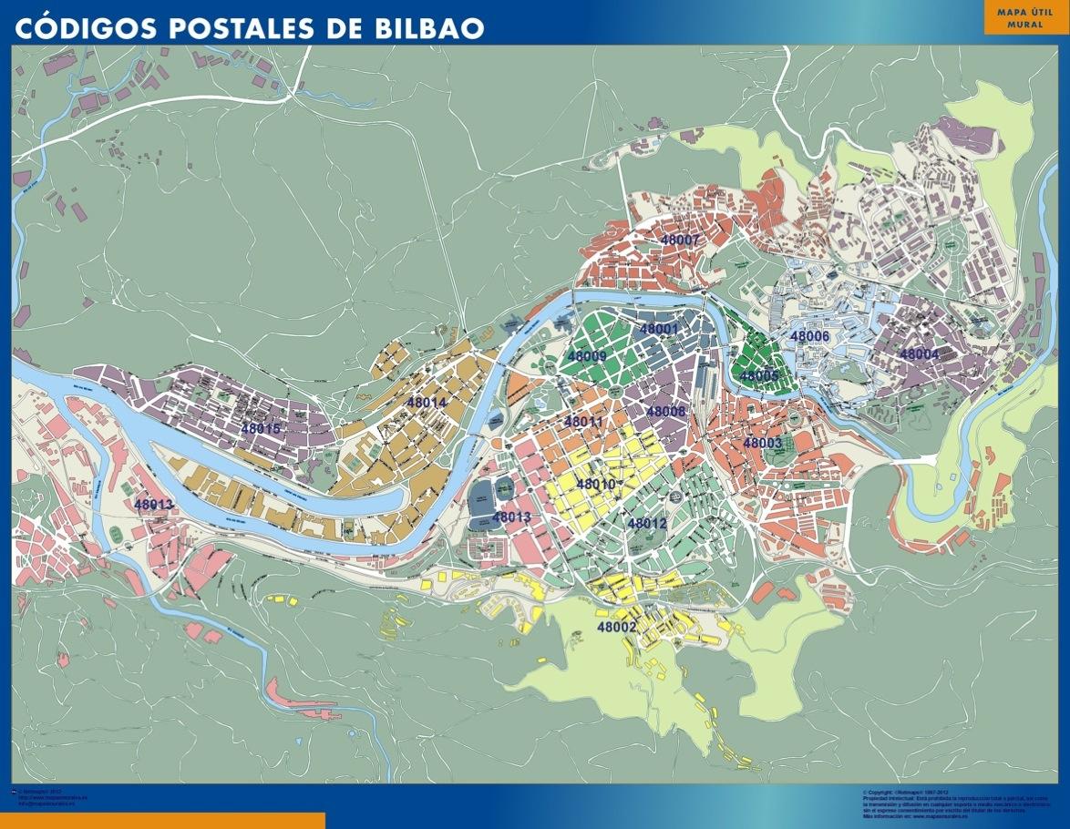 Codigos Postales Barcelona Mapa.Mapa Imanes Codigos Postales Bilbao