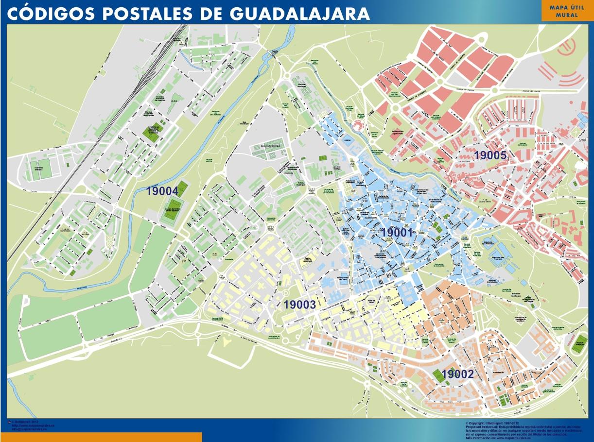 Codigos Postales Barcelona Mapa.Mapa Imanes Codigos Postales Guadalajara