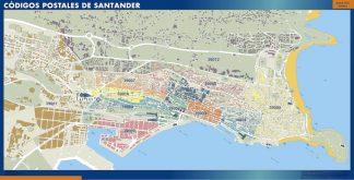 mapa imanes codigos postales santander