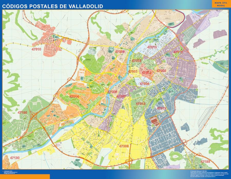 Mapa Codigos Postales Madrid.Mapa Imanes Codigos Postales Valladolid