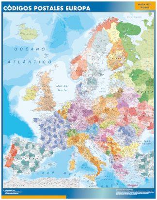 mapa pizarra europa codigos postales