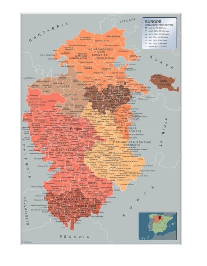 Mapa Imantado Municipios Burgos