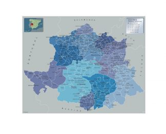 Mapa Imantado Municipios Caceres