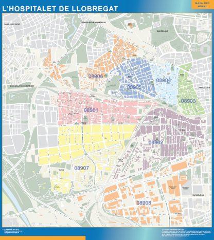 Mapa De L Hospitalet.Mapa Hospitalet De Llobregat Codigos Postales