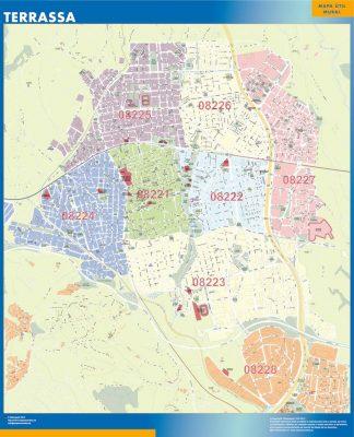 Mapa Terrassa Codigos Postales